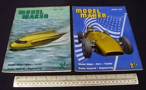 1960-Vintage-Model-Maker-Magazine-x-2-Ships-Cars-Yachts-Adverts-Engineering-10