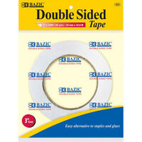 """BAZIC Double Sided Tape 1"""""""" x 36 Yards 72Pcs 925-72 Office Supplies"""
