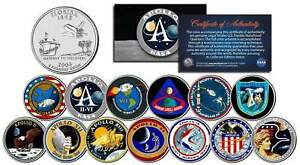The-APOLLO-SPACE-MISSIONS-Colorized-Florida-Quarters-US-13-Coin-Set-NASA-PROGRAM