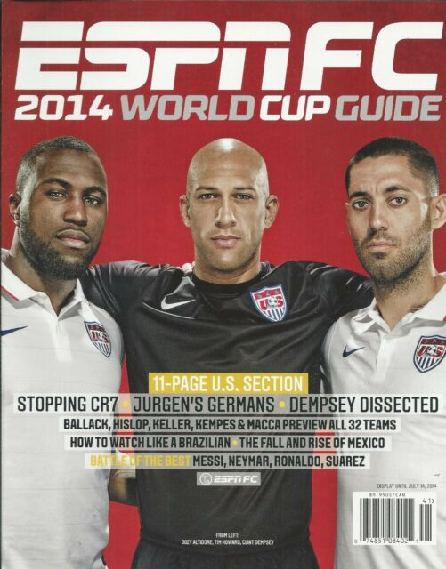 ESPN FC soccer magazine World Cup guide Tim Howard Jozy Altidore Clint Dempsey
