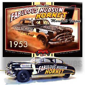 Model King 1 25 Fabulous Hudson Hornet 1953 Stock Car Kit Marshall
