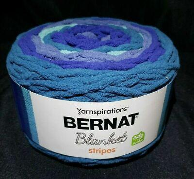 Graphite Bernat Blanket Stripes Yarn 10.5 oz