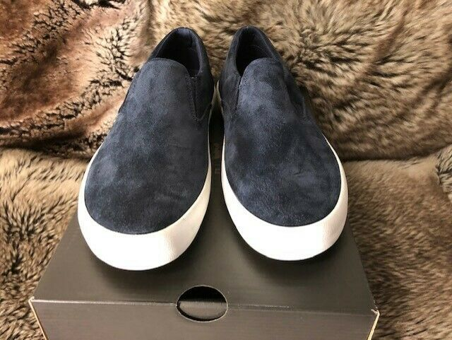 Sperry Top Sider Mens Suede Slip Ons Navy blu Dimensione 8M