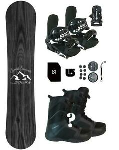 163-Symbolic-Knotty-WIDE-Snowboard-Binding-Boot-Package-Stomp-Lsh-Mask-burton-3d
