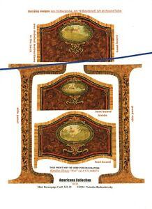 1-24-scale-Natasha-Beshenkovsky-039-s-Mini-Decoupage-Americana-Collection-Bed-1-2-034