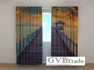 Fotogardinen Pier Fotovorhang Vorhang Gardinen Textil 3d Qualität Fotodruck To Prevent And Cure Diseases Curtains, Drapes & Valances Window Treatments & Hardware