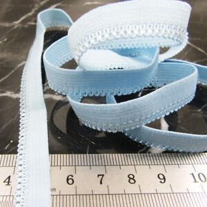 DECORATIVE-SCALLOPED-ELASTIC-BLUE-11MM-STRETCH-BRAID-TRIM-SEWING-CRAFTS-H3754