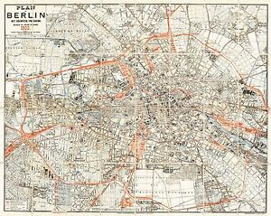 MAP-ANTIQUE-1903-STRAUBE-BERLIN-CITY-PLAN-OLD-LARGE-REPLICA-POSTER-PRINT-PAM0417