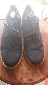 Walk-Over-Mens-Oxford-Shoes-Size-12-Navy-Blue-Suede-w-Lime-Green-Lower
