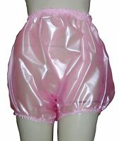 Pvc Knickers Pants Panties Adult Baby Sissy Roleplay Hi Sides Xxl Shiny Pink
