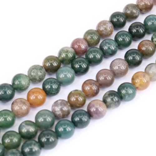 15/'/' Natural India Agate Gemstone Stone Spacer Loose Bead Making DIY 4//6//8//10MM