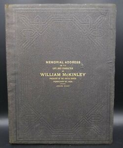 Vintage-1903-Book-Memorial-Address-on-the-Life-and-Character-of-William-McKinley