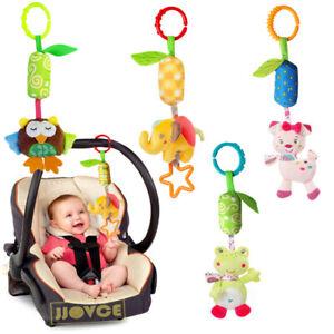 4 Pcs of Baby Hanging Rattles Toys Newborn Crib Toys Car Seat Stroller Toys