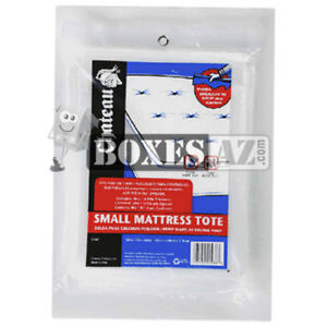 (1) Twin Mattress Bags/Covers - Thick 4 Mil Heavy Duty - Grip and Carry Tote