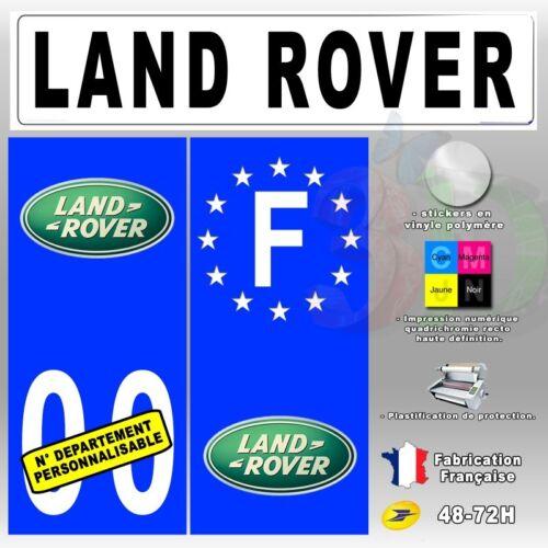 "Stickers Plaque d/'immatriculation /""Land Rover/"" Auto-moto"