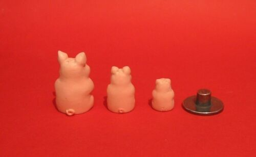 Pig Russian Doll Pewter Thimble Hand Painted Set Three Collectible Thimbles NEW