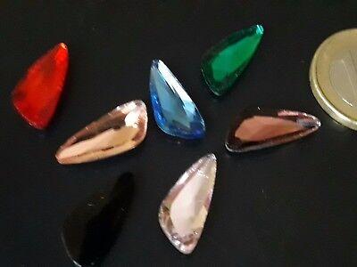 CRIS-33 collares pulsera De 6 a 90 Cristales colores TRIANGULO IRREG P 7,8x18