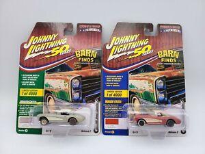 Johnny Lightning 1957 Chevy Corvette Barn Find LOT OF 2 ...