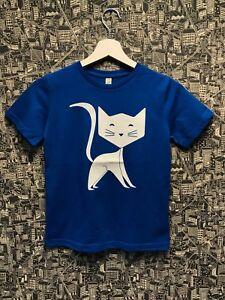 Kids Cat Lover Children Cat Crazy Cat Cute Glow In The Dark Cat T-Shirt