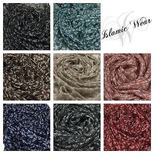 ARBRE-imprime-HIJAB-echarpe-femmes-Maxi-magnifique-motif-floral