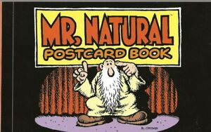 R-CRUMB-MR-NATURAL-POSTCARD-BOOK-24-POSTCARDS-WITH-IMAGES-BY-R-CRUMB