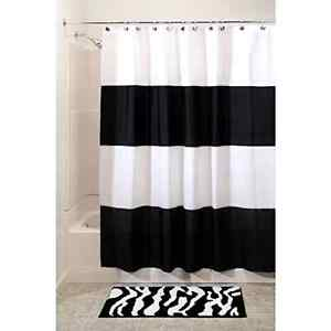 Waterproof Shower Curtain Black And White Modern Home Bathroom Decor Striped New Ebay