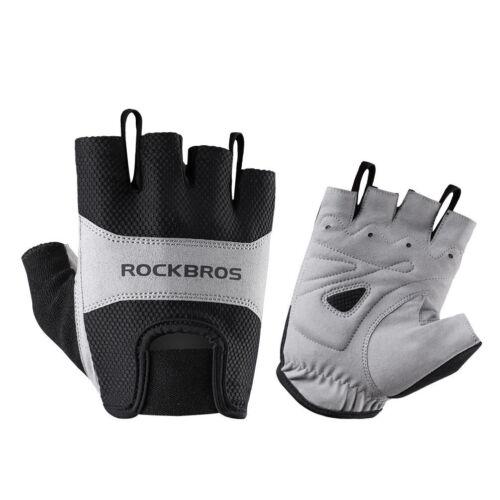 RockBros Cycling Pad Half Finger Upgrade Short Finger Gloves Breathable Gloves