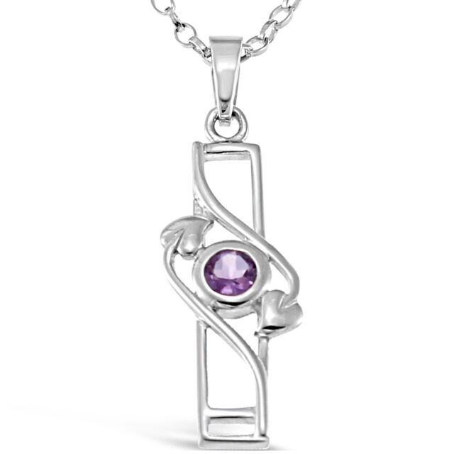 """Sterling Silver Charles Rennie Mackintosh Pendant Necklace with 18"""" Silver Chain"""