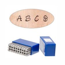 27 Steel Modern Alphabet Letter Stamp Punch Tools For Metal, Jewelry Blanks +