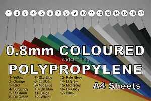 A4 Polypropylene Plastic Sheet with Lines 0.5mm Binding Art Craft /& Model Making