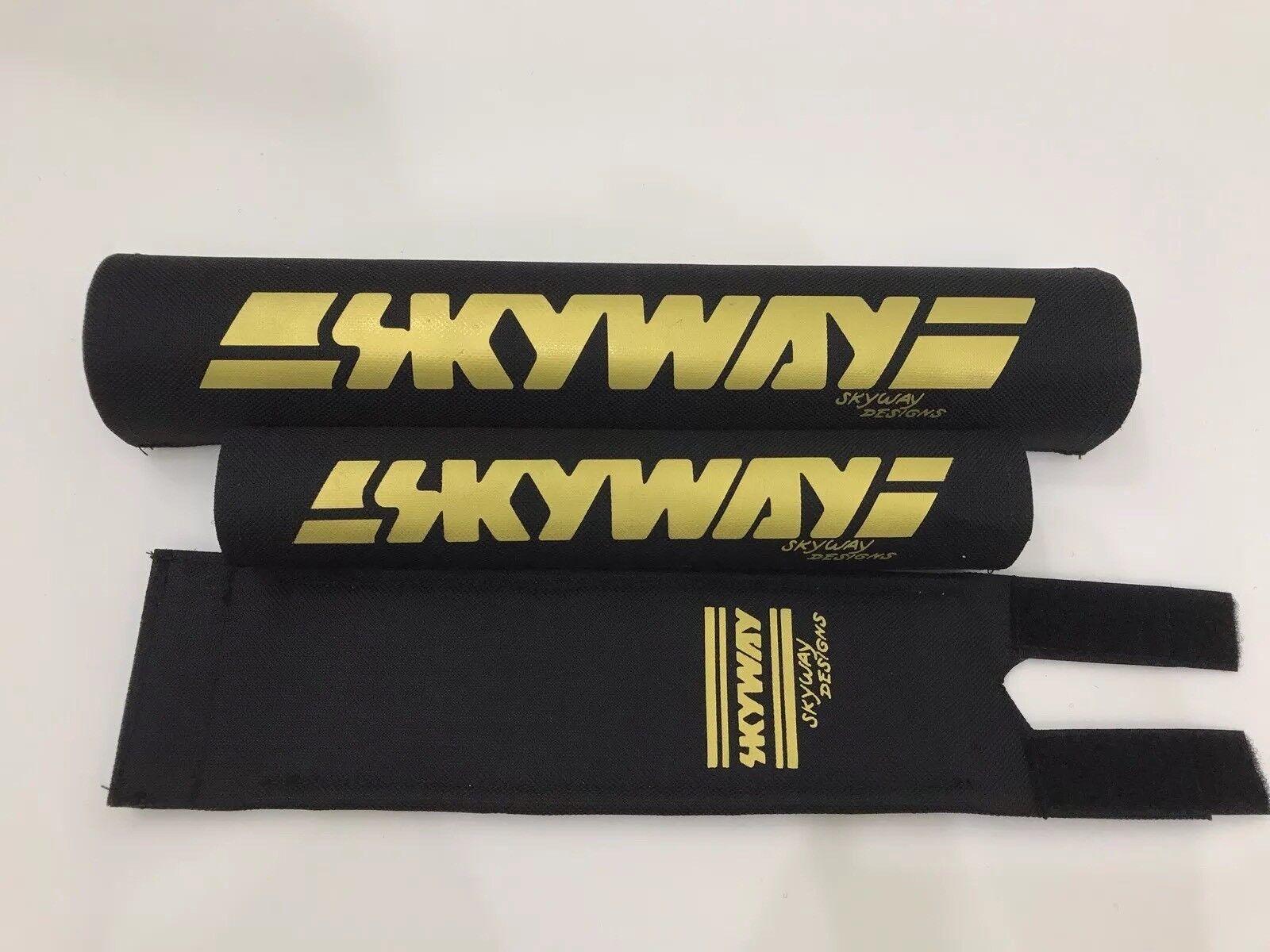 Skyway Bmx Pad Set Oldschool REPOP Kuwahara Blk gold PK Ripper Tange