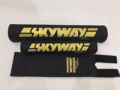 Skyway Bmx Pad Set Oldschool REPOP Kuwahara Blk//Gold PK Ripper Tange