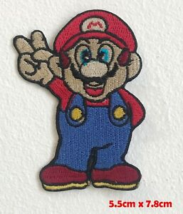 Super-Mario-Jeu-Video-Paix-Win-Brode-Repasser-Patch-a-Coudre-1616