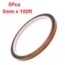 5pcs Heat Transfer Resistant Tapes Adhesive 5mm X 100ft 3d Sublimation Press