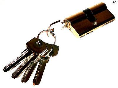 1 X Sicherheit Schließzylinder 60mm Türschloss Schloss + 5 Schlüssel Heimwerker Einfach Zu Reparieren