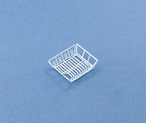 1:12 Scale Dollhouse Miniature White Kitchen Dish Drainer/Drying Rack #WCKA185