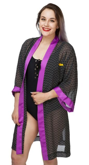 Batgirl Bombshells Collection Silky Satin Robe DC Comics Sleepwear