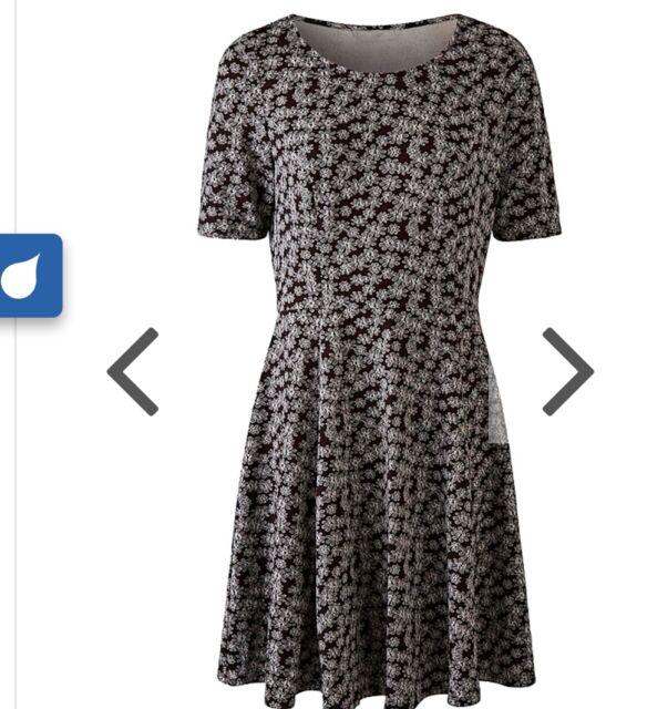 Simply Be Jacquard Skater Dress Nwt Plus Size 28 In Blackwhite Ebay
