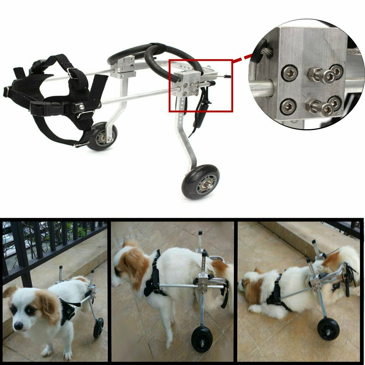 PetDog Wheelchair for Handicapped Small DogCat 8''10'' Run BestParts Cart