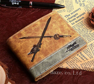 Anime-Sword-Art-Online-Wallet-Kirito-Black-And-White-Prop-Leather-Purse