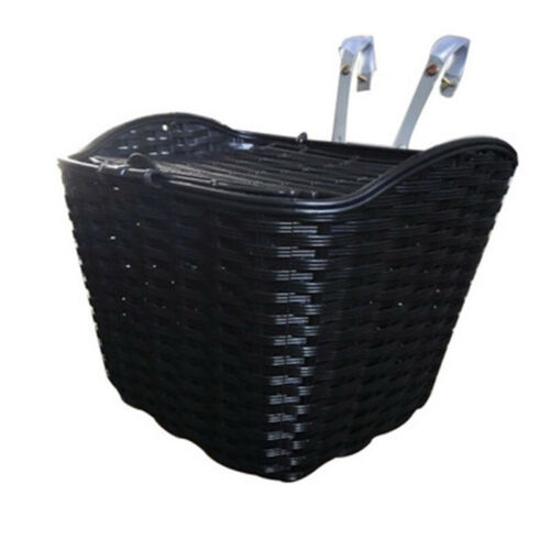 Bike Bicycle Travel Front Pet Carrier Basket Foldable Imitation Rattan Frame BCL