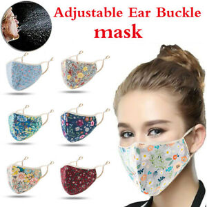 Reusable Fashion Floral Mouth Face Mask Outdoor Protection Face Masks Washable Ebay