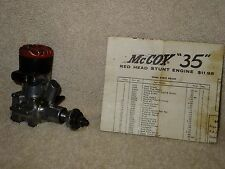 Testors McCoy .35 Redhead Stunt Engine, Vintage, Collectible