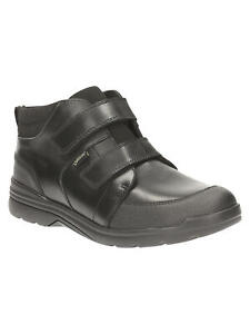 BNIB Clarks Bootleg Boys Loris Top GTX Black Leather Gore-Tex School Boots