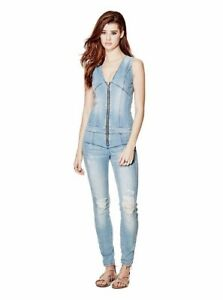 d61ac06ef6b8 GUESS  138 NEW Maxine Zip Up Jumpsuit Size 0 (Photoshoot 2 wash ...
