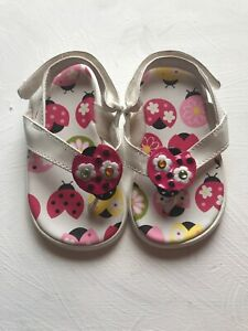 Gymboree Pretty Posies Toddler Girls Flip Flops Sandals Size 5-6 NEW Shoes