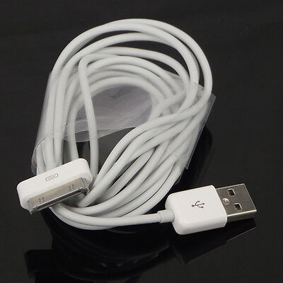 3M 10Ft USB Sync Data Charging Charger Cable Cord for iPhone 4 4S 3GS iPad 2 3