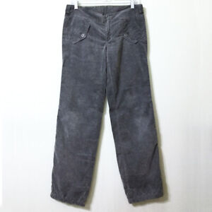 Diesel-Corduroy-Pants-Grey-27-Women-039-s-RISPOS-LES-Low-Rise-Lightweight-Gray