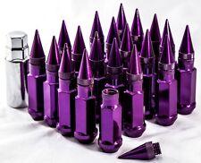 92mm AodHan XT92 12X1.5 Steel Purple Spiked Lug Nuts Fits Lexus Mazda Mitsubishi