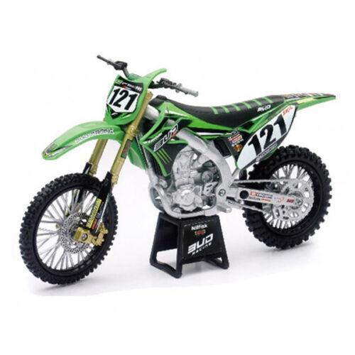 Spielzeugautos Bud Racing Boog Team Kawasaki Kxf 450-1:12 Druckguss Spielzeug